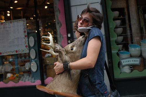 Woman With Deer Head - USA
